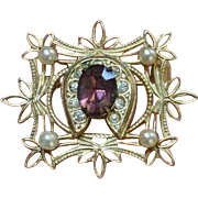 Victorian Style Vintage Brooch Pin