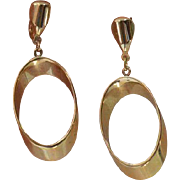 Mod Gold Tone Dangle Earrings