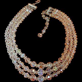 Vintage Crystal Necklace Choker