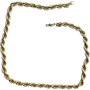 MONET Twisted Rope Chain Necklace