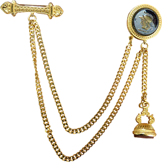 BEN AMUN Chatelaine Style Brooch Pin