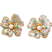Sarah Coventry Flowerette Earrings