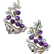 Vintage Purple Swirl Earrings