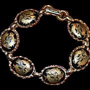 Damascene Style Fishes Bracelet