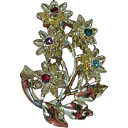 Flower Spray Vintage Brooch Pin