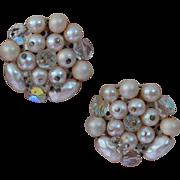 Vintage JAPAN Beaded Earrings