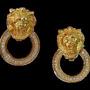 Lion's Head Doorknocker Earrings