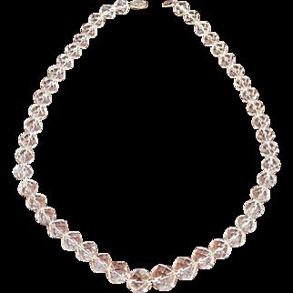 Sterling Clasp Vintage Crystal Necklace