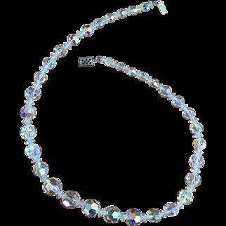 Vintage STERLING Crystal Necklace