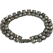 Double Strand Vintage Rhinestone Bracelet