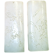 An old pair of Hetian white jade paperweight