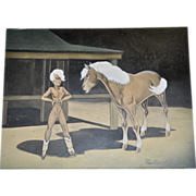 Don Stockton Original Oil on Canvas c.1940's
