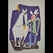 Muriel Jacobs Color Illustration c.1960's