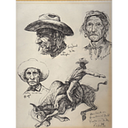 Fine Art Native American Sketches by Gregory Perillo