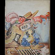 1940's Folk Art Painting by Mabel Austin