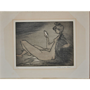 Etienne Ret (1900-1989) French - Vintage Etching c.1970