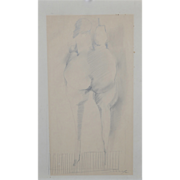 Jan Stussy (1921-1990) Original Graphite on Paper Nude Study c.1960