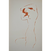 Francois Bores (1898-1971) Abstract Nude Lithograph c.1950