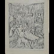Manuel Boccini (1890-1962) Original Pen and Ink c.1922