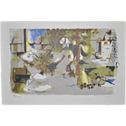 MIchele Rodde (1913-2009) Mid Century Lithograph c.1950's