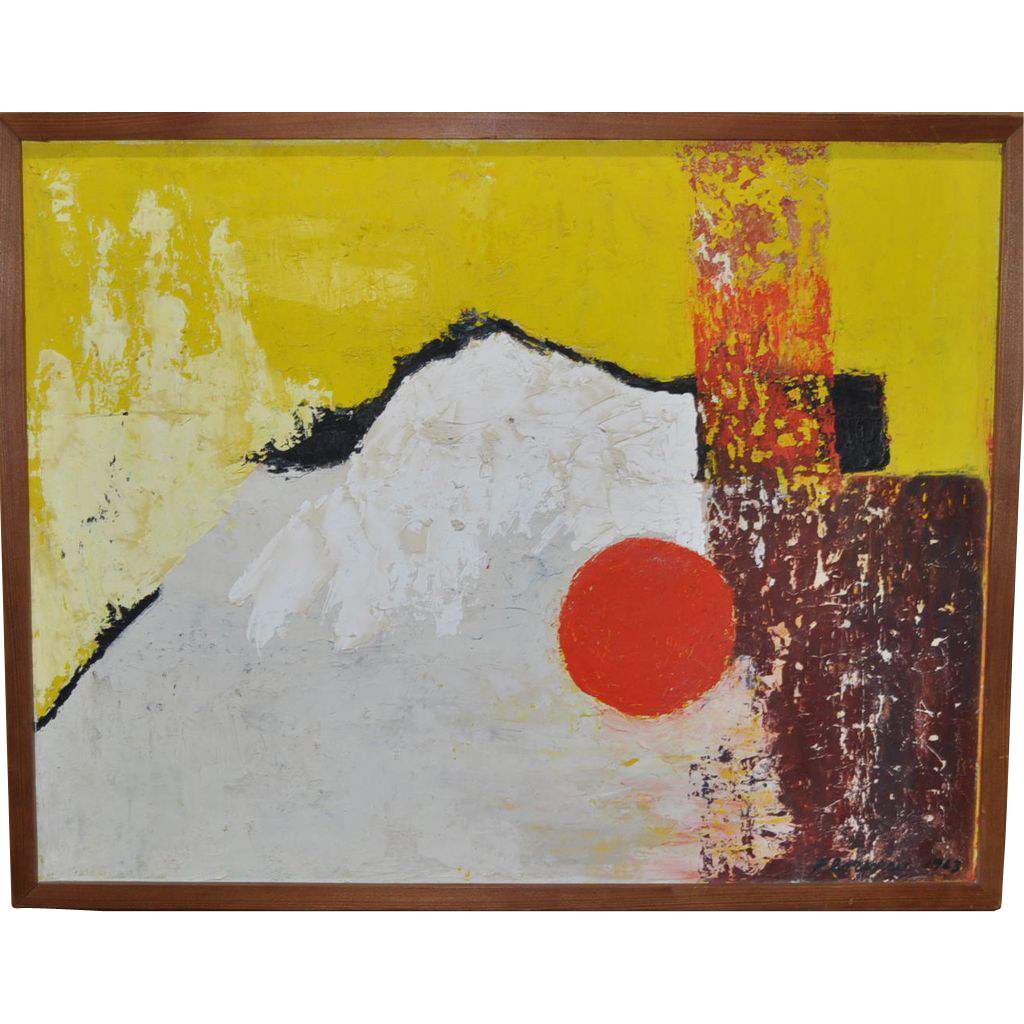 Vintage 1960 S Abstract Painting By Florence From Antique