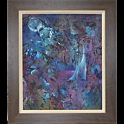 Striking Batik Painting by Ledbetter c.1970
