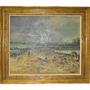 French Impressionist Oil Painting c.1950