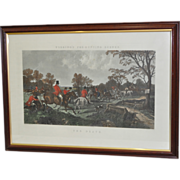 "Lot of Four 19th Century Hand Colored Engravings ""Fox Hunting Scenes"" c.1860's"