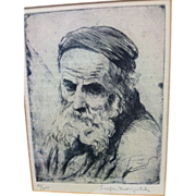 Joseph MARGULIES (1896-1984) Etching - Signed / Numbered - Judaica / Spiritual