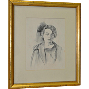 Ralph Stackpole (1885-1973) Original Portrait Drawing c.1927