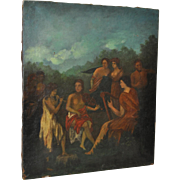 19th Century Classical Oil Painting on Canvas