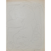 John de Martelly (American 1903-1980) Original Pen and Ink Figural Nude c.1956