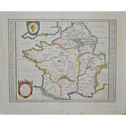 Abraham Ortelius Map - A Greater Part of Germany  w/ Latin Text on Back