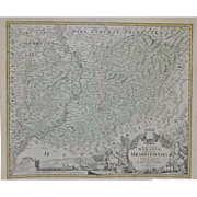 A Map of Hradiste Region by Johann Baptist Homann c.1720