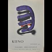 Ladislas Kijno (1921-2012) Vintage Gallery Exhibit Lithograph Poster c.1963