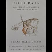 Brigitte Coudrain Vintage Exhibit Lithograph c.1978