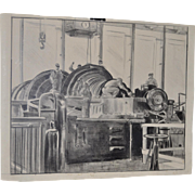 Muriell Sibell (1898-1977) Colorado Mining Machinery Illustration c.1932