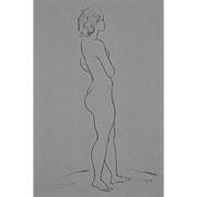 Edward Hagedorn (1902-1982) Original Pen & Ink c.1960's