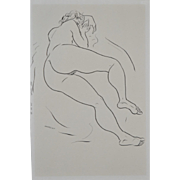 Mid Century Figural Nude Study by Edward Hagedorn c.1960's