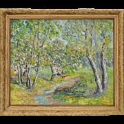 Vintage Impressionist Landscape by Jessie Schlueter c.1940's