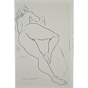 Edward Hagedorn (1902-1982) Original Mid Modern Pen & Ink c.1960's.