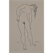Figural Nude Study by Hagedorn 1960's