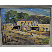 Quince Galloway Oil Painting - Taos Pueblo