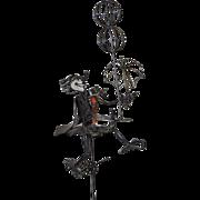 Joseph Burlini Metal Sculpture w/ Enamel Highlights c.1969