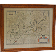 "Antique Map ""Oldenburg"" - Hand Colored - Engraved"