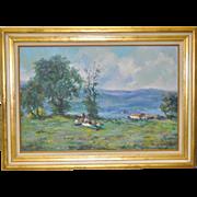 Fine Impressionist Landscape Oil Painting
