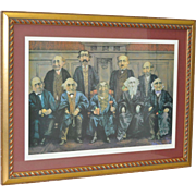 "Charles Bragg Lithograph ""The High Court"""
