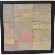 Vintage Mixed Media Abstract Painting by Rutgers Alexander c.1966
