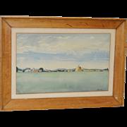 Impressionist Midwest Farm Landscape c.1939