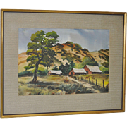 Louis Dessauer California Landscape Watercolor